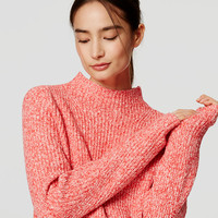 Ribbed Mockneck Sweater | LOFT