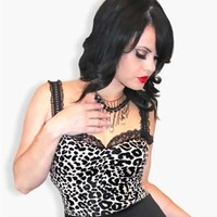 Demi Loon - Dolly Leopard Pinup Top