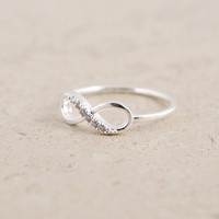 Infinity Ring in Silver by bkandjio on Etsy
