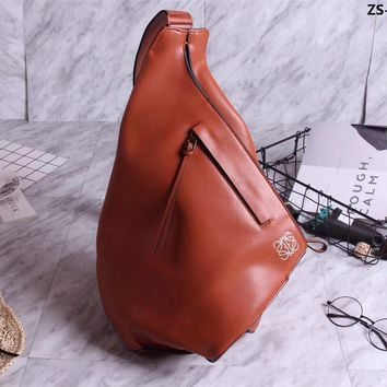 Ready Stock Loewe Lovers Style Leather Cross Body Backpack Bag #785