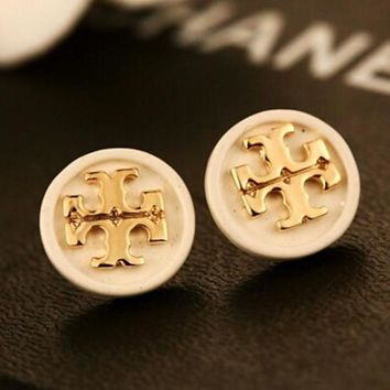8DESS Tory Burch Women Fashion Stud Earring Jewelry