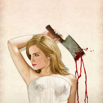 Slaughterhouse Starlets: Emma W. Art Print by Keith P. Rein