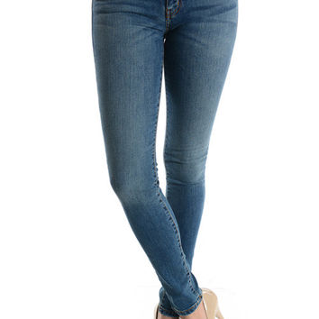 Eunina Medium Wash Basic Skinny Jeans