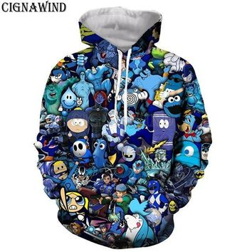 New popular cartoon collage /south park series 3D print harajuku style t shirt /hoodies/ sweatshirts/vest/ summer topsKawaii Pokemon go  AT_89_9