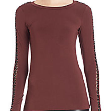 Bailey 44 - Houston Chain-Link Long-Sleeve Top - Saks Fifth Avenue Mobile