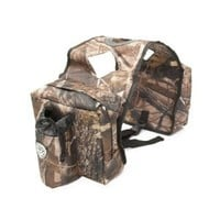 Universal ATV Gas Tank Cargo Saddle Storage Bags Bottle Holder for ATV 4X4 Quad 4-Wheeler with Beverage Holders - Mossy Oak