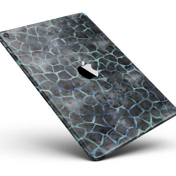 """Black and Blue Watercolor Giraffe Pattern Full Body Skin for the iPad Pro (12.9"""" or 9.7"""" available)"""