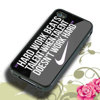 Nike Quote Hard Work Hard plastic,Rubber iphone 4/4s,5/5s,5c,Samsung S3 i9300,S4 i9500