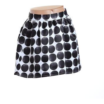 Fun&Fun - Girls Party Skirt With Oversized Polka Dots and Pleats - 44