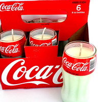 6 pack of Coca-Cola Classic Scented Candles