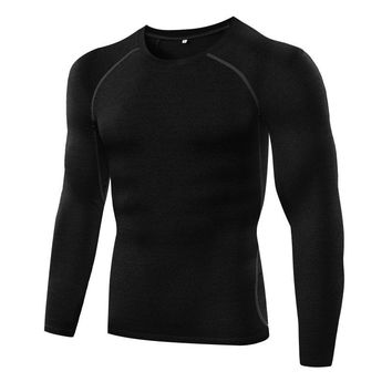Men Boys Autumn Quick Dry Basketball Running T-Shirts Long Sleeve Sport Top GYM Muscle Stretch Tee