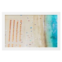 Birds Eye Beach Scene Framed Art