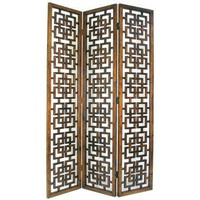 7 ft. Tall Geometric Lattice Room Divider