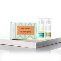 Endless Summer perfume gift box - Sarong Vanilla - Tropical Frangipani - 2 mini perfumes gift box - Themefragrance
