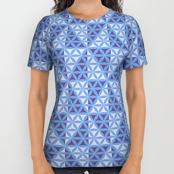 Whirligig Pattern All Over Print Shirt by Cveti