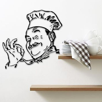 Wall Sticker Vinyl Decal for Kitchen Cook Food Restaurant Chef (ig1266)