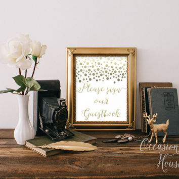 Please sign our guestbook printable INSTANT DOWNLOAD