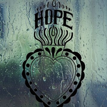 Hope with lighting heart Vinyl Wall Decal - Permanent Sticker