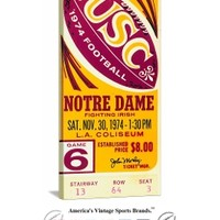 USC Trojans football tickets, 1974 USC Comeback Notre Dame