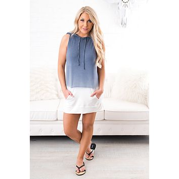 Spread The Word Ombre Dress (Denim)