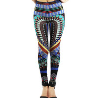 Boho Style Multi Color Geometric Printed Leggings
