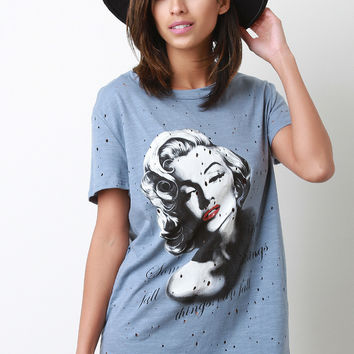Distressed Marilyn Monroe Tee Dress