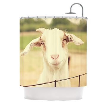 "Angie Turner ""Happy Goat"" Smiling Animal Shower Curtain"