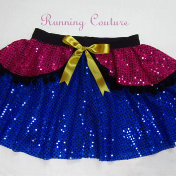 NEW Anna inspired from Frozen Sparkle Running Misses round skirt