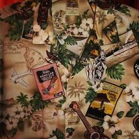 WINNIE FASHION HAWAIIAN SHIRT VTG Tribal and Surf Cotton Size 3XL Made in Hawaii