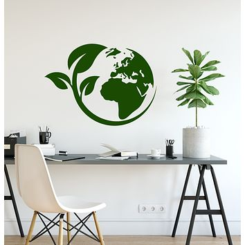 Vinyl Wall Decal Earth Ecology Style Nature Environmental Protection Stickers (3932ig)
