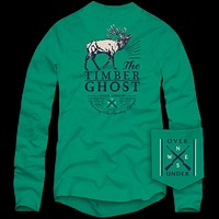 Long Sleeve Timber Ghost Tee in Green by Over Under Clothing