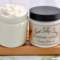 Lavender Vanilla Creamy Lotion 4oz Rich and by SweetSallysSoaps
