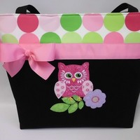 OLIVE the OWL Diaper Bag ... Large ToTE ... L...... | TweedleTotes - Bags & Purses on ArtFire