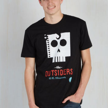 Nifty Nerd Long Novel Tee in Ponyboy - Men's