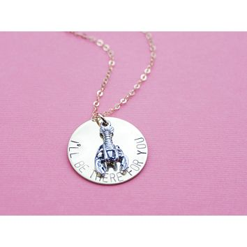 I'll Be There For You Friends Lobster Necklace