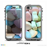 The Multicolored Candy Hearts Skin for the iPhone 5c nüüd LifeProof Case