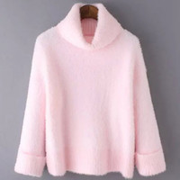 Sweet Faux Cashmere Turtleneck Sweater