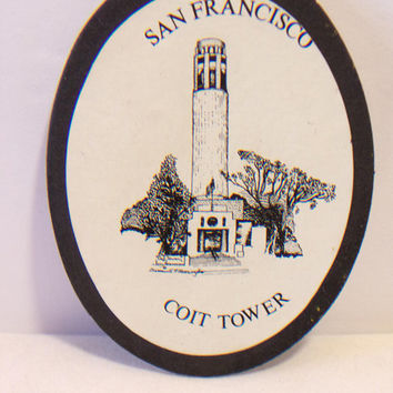 San Francisco Coit Tower Souvenir Magnet Vintage 1989 Refrigerator Home Decor
