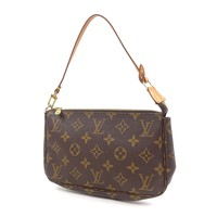 Authentic LOUIS VUITTON Monogram Pochette Accessoires Pouch M51980 Used F/S
