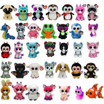 "Ty Beanie Boos alpaca Dog and Dragon Plush Doll Toys for Girl Unicorn Lion Cute Animal Owl Wolf Cat ghost 6"" 15cm Stuffed Animal"