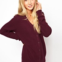 ASOS Cardigan With Top Pocket at asos.com