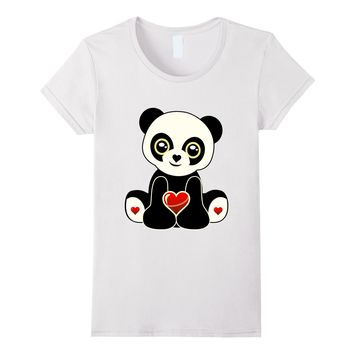 Cute I Love Panda's Shirt Valentine's Day Panda Bear T-Shirt