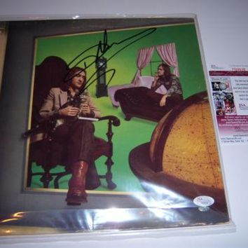 "Dave Mason Signed Autographed ""Let It Flow"" Record Album (JSA COA)"