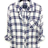 Rails Hunter buttondown in white/marine