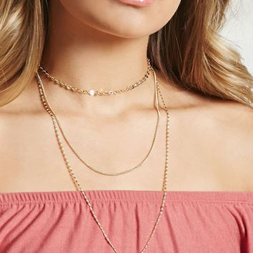 Mixed Chain Choker Necklace