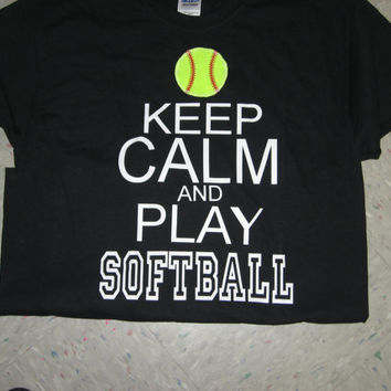 Keep Calm & Play SOFTBALL shirt by KristisKreations3 on Etsy