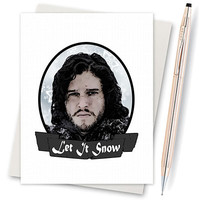 Game Of Thrones - Card For Wife - Funny Christmas Card - Cards For Him - Funny Boyfriend - Internet Meme - Lannister - Handmade Card Jon