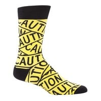 Caution Tape Men's Crew Socks by Sock it To Me