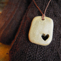 Fill My Heart Clay Pendant Necklace by iamclay on Etsy
