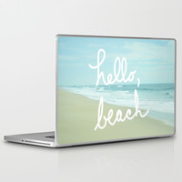 Hello, Beach Laptop & iPad Skin by Avenue L Designs | Society6